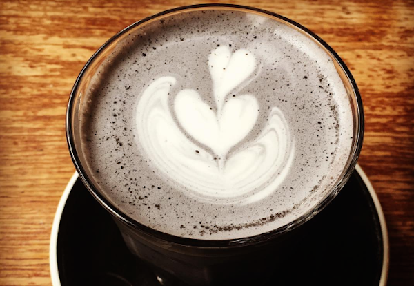 Charcoal lattes exist for people who are over multicolored coffee drinks