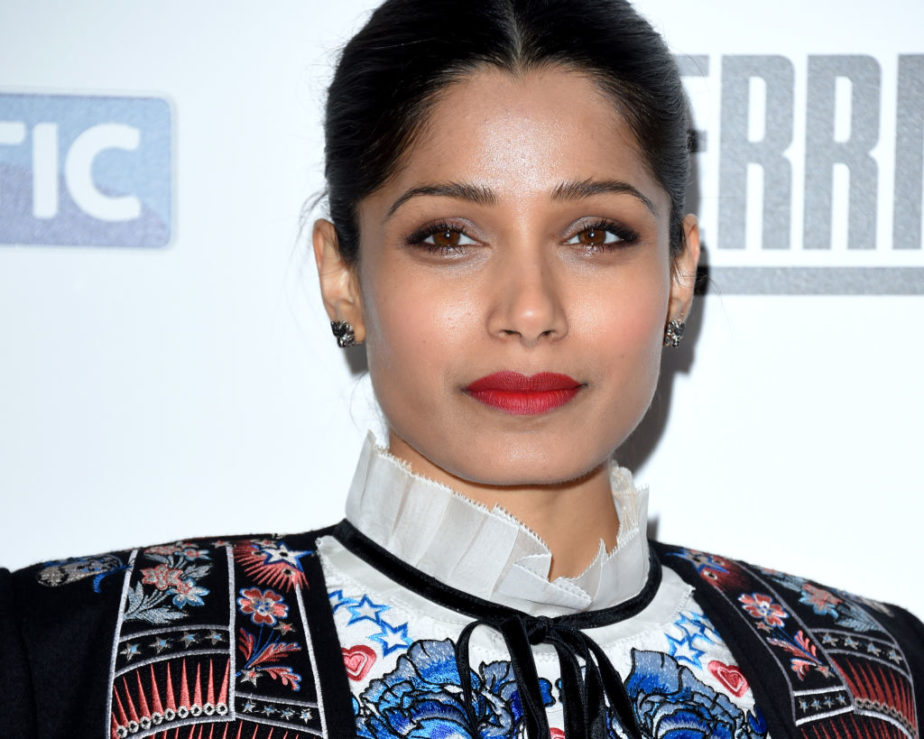 Freida Pinto transformed classic colors into a look that's anything but boring