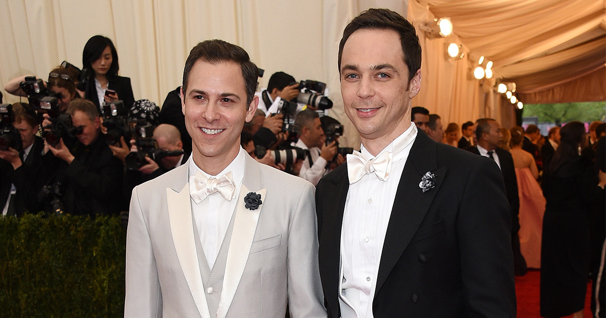 Congratulations! Jim Parsons and his partner Todd Spiewak just got married