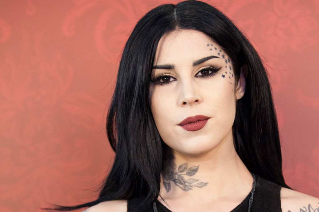 We're going gaga over these swatches of Kat Von D's new Shade and Light Glimmer Palette
