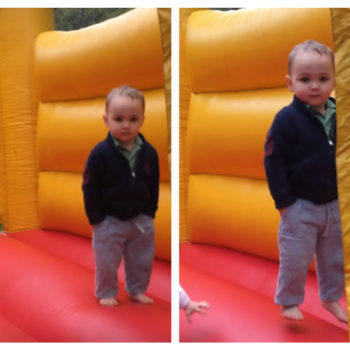 This laid-back kid in a bouncy house makes us rethink everything we thought we knew about children