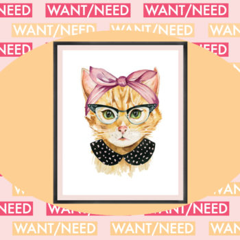WANT/NEED: A hipster cat portrait for your desk, and other stuff you'll actually want to buy