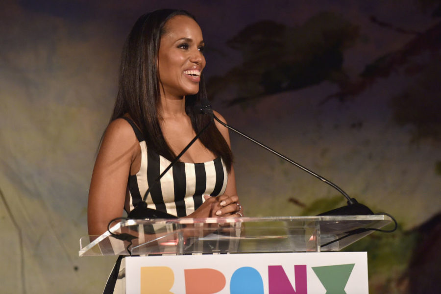 Just looking at Kerry Washington's colorful dress is making us happier