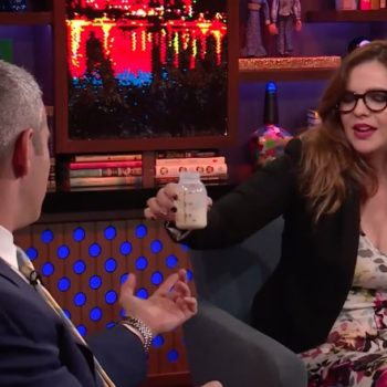Andy Cohen drank Amber Tamblyn's breast milk, and, what a world