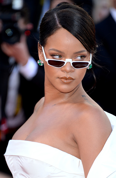 Rihanna wearing sunglasses at Cannes