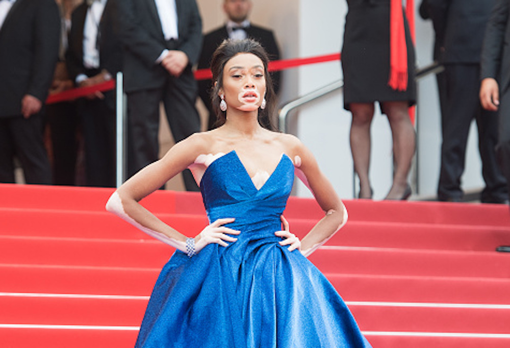 Winnie Harlow looks like she's off to a royal ball in a gown fit for a fairy tale princess at Cannes