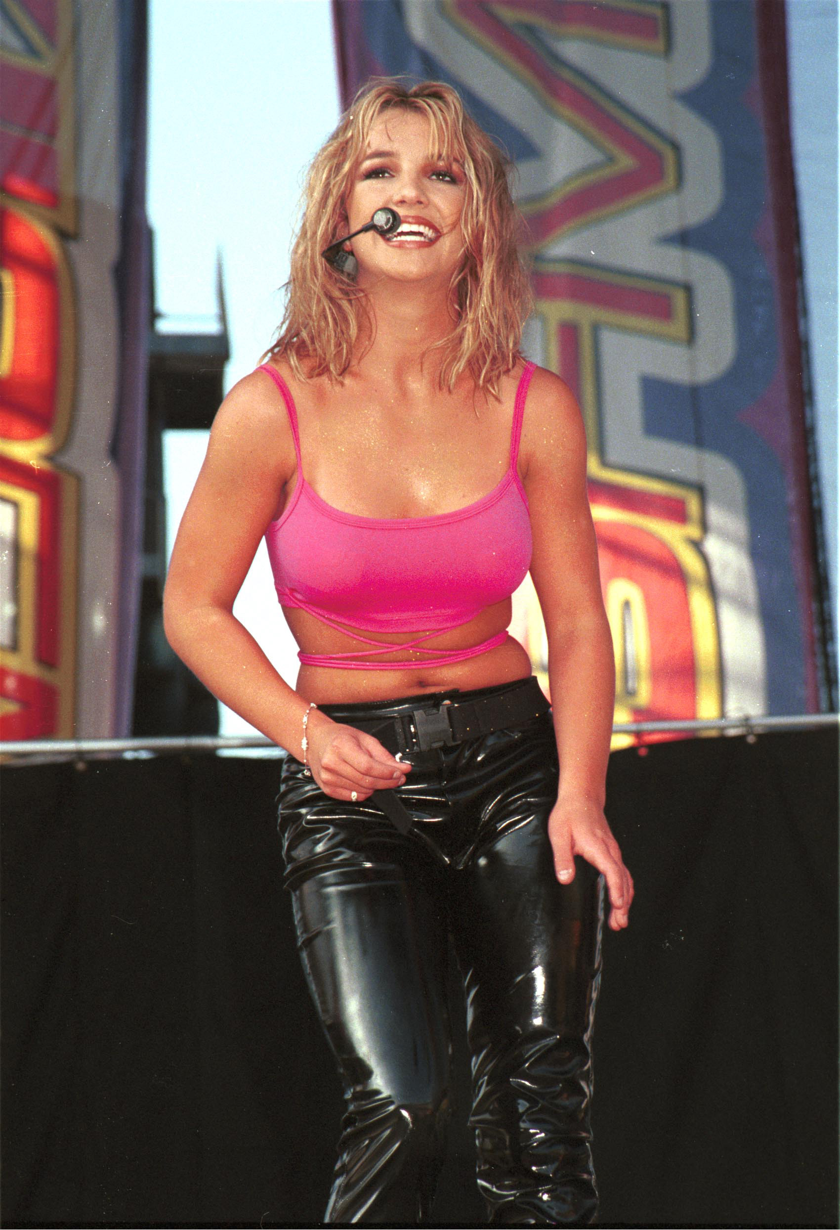 Britney Spears performing at Wango Tango 1999.