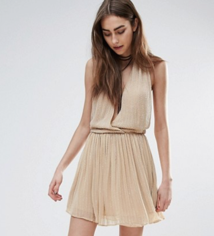 Nude asos dress