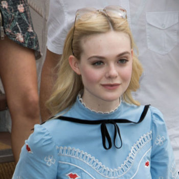 Elle Fanning revived her role as Sleeping Beauty behind the scenes at Cannes