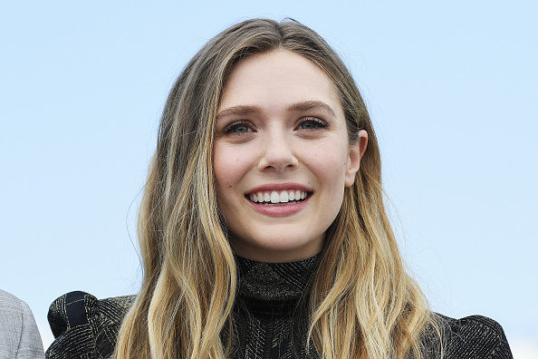 Pink is not enough for Elizabeth Olsen, so she rocked glittering millennial pink and YAAAAS