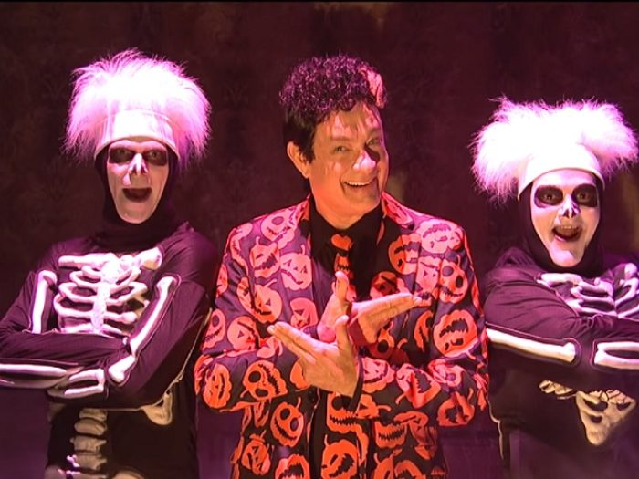"David S. Pumpkins came back to ""Saturday Night Live,"" and in the last place you'd expect!"