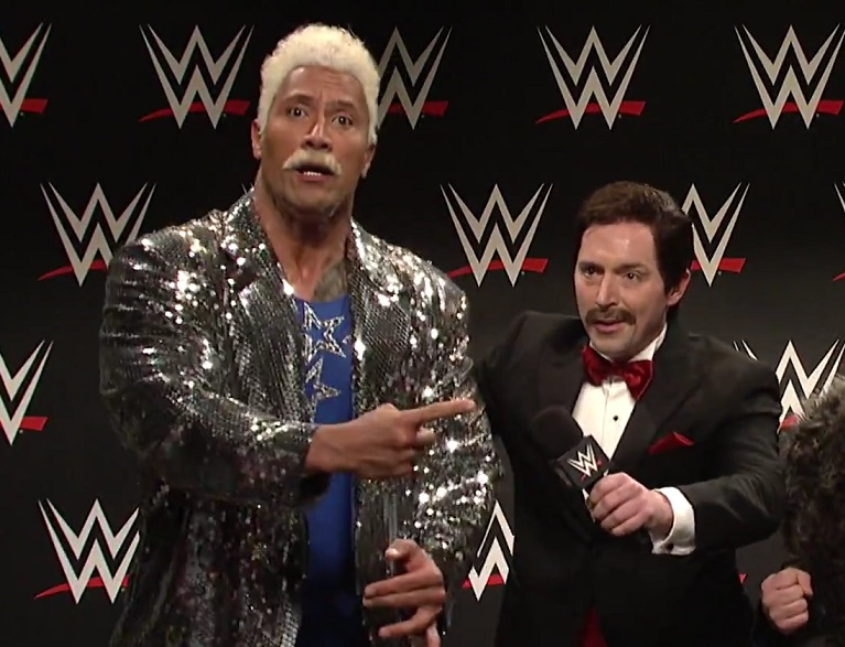"Dwayne Johnson weirdly insulting wrestler needs to just keeping coming back to ""Saturday Night Live"""