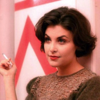 """Audrey on """"Twin Peaks"""" ended up wearing those iconic, fitted sweaters by accident"""