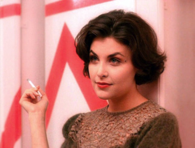 "Audrey on ""Twin Peaks"" ended up wearing those iconic, fitted sweaters by accident"