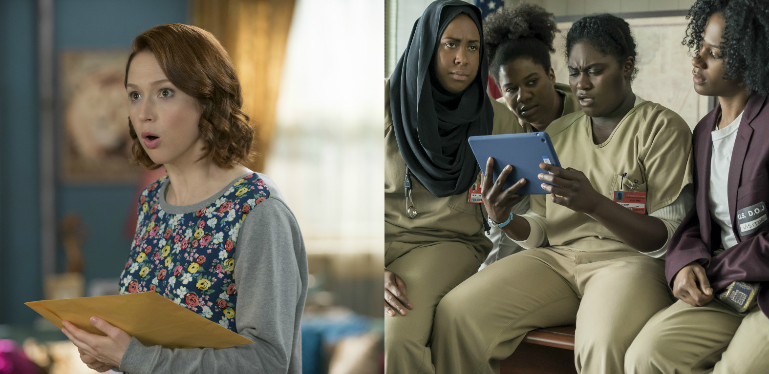 """Kimmy Schmidt"" and ""Orange is the New Black"" both exist in the same glorious television world"