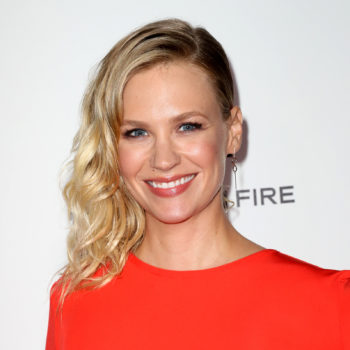 Here's where you can buy January Jones' classic red one-piece swimsuit (just in time for Memorial Day!)