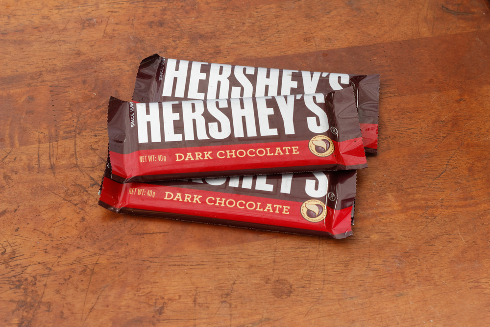 Somebody is suing Hershey for this reason, because chocolate is a serious thing