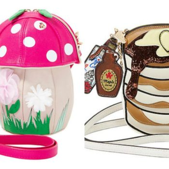 You can carry your belongings in a dinosaur, pancakes, and a giant pink mushroom handbag thanks to Betsey Johnson