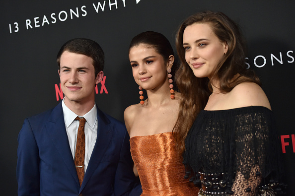 "This ""13 Reasons Why"" actor couldn't help but fangirl over executive producer Selena Gomez either, and same"