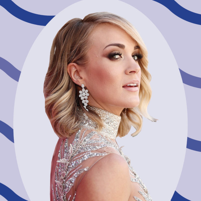 We spoke with Carrie Underwood about her athleisure brand, favorite workout song, and the comfort food she can't resist