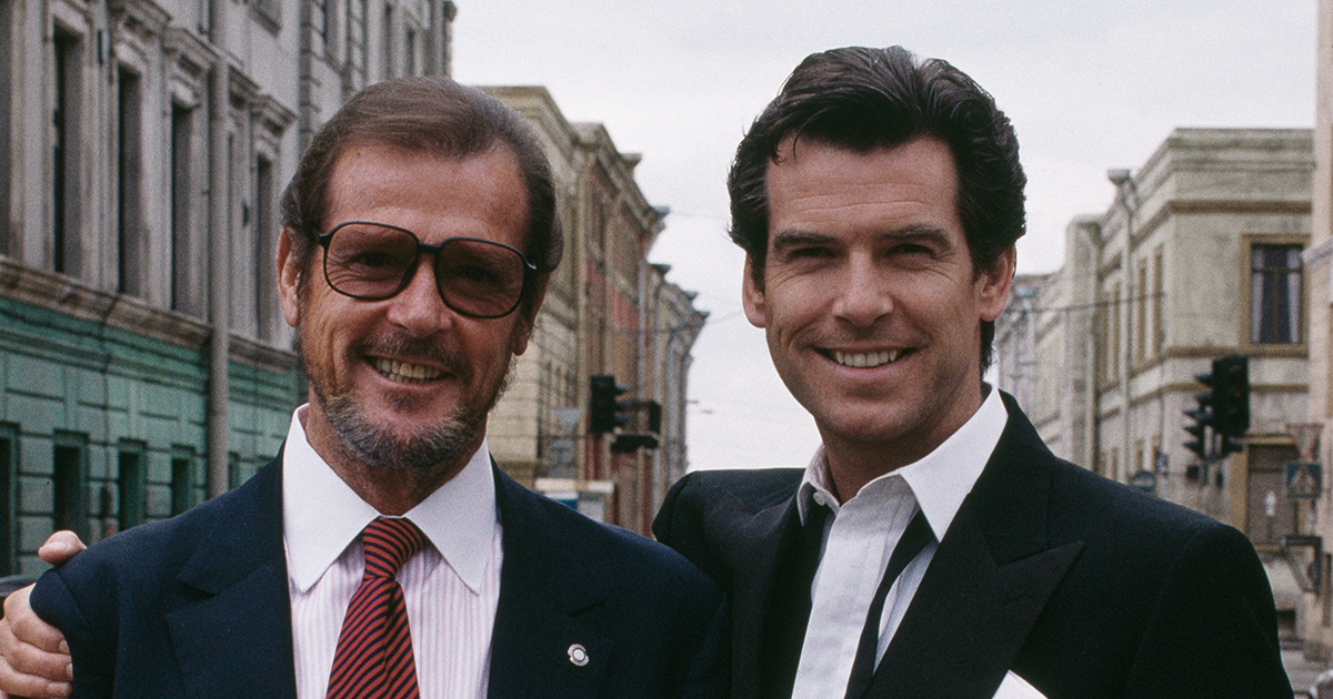 "Pierce Brosnan has paid tribute to the ""greatest Bond of his time,"" Roger Moore"