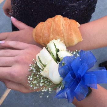 This is why teens are wearing croissants (instead of corsages) to prom