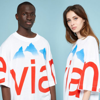 This is what it looks like when Evian water gets the streetwear treatment