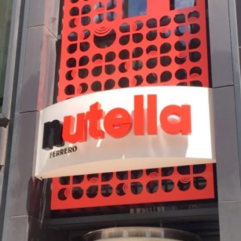 I visited Nutella's first ever café, and it's basically a chocolate-hazelnut wonderland