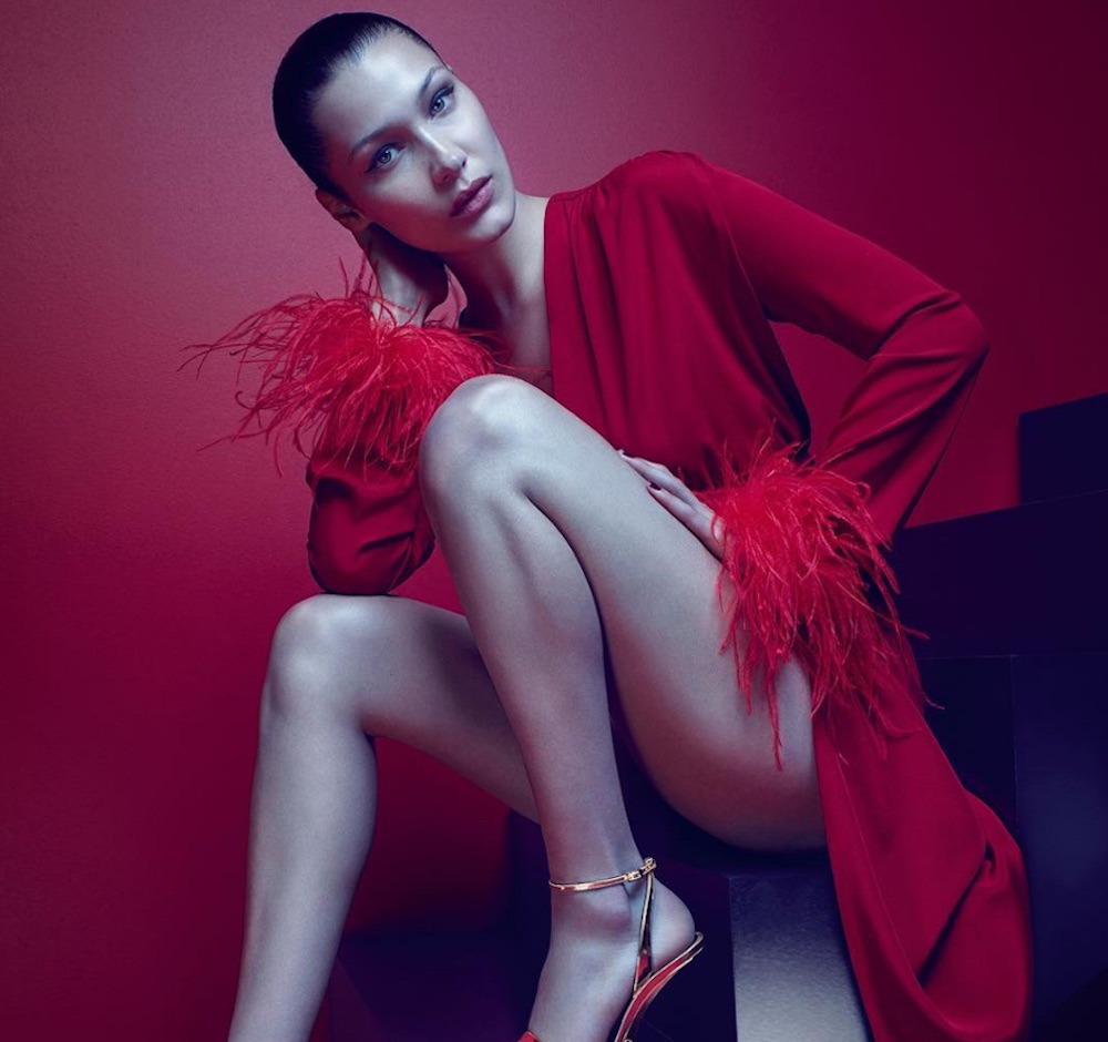 Bella Hadid is convincing us to splurge on these designer shoes in the new Giuseppe Zanotti campaign