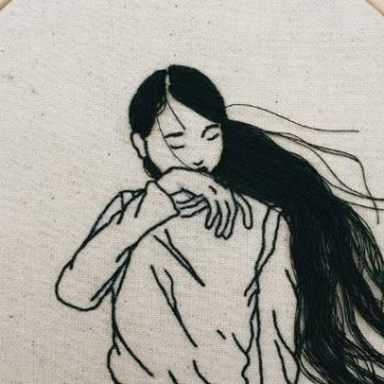 This artist's 3-D embroidery hairstyle art is such a cool way to celebrate womanhood