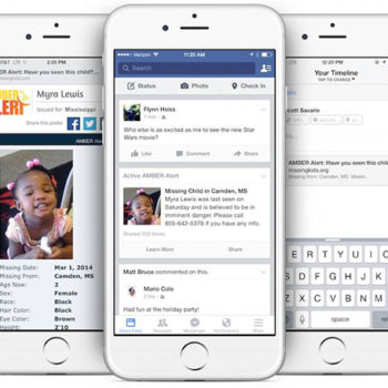 Facebook's feature aims to help find missing children, and this is incredibly important