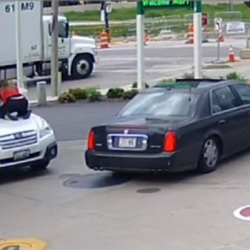 This woman stopped carjackers from stealing her truck at a gas station, and the footage is absolutely chilling