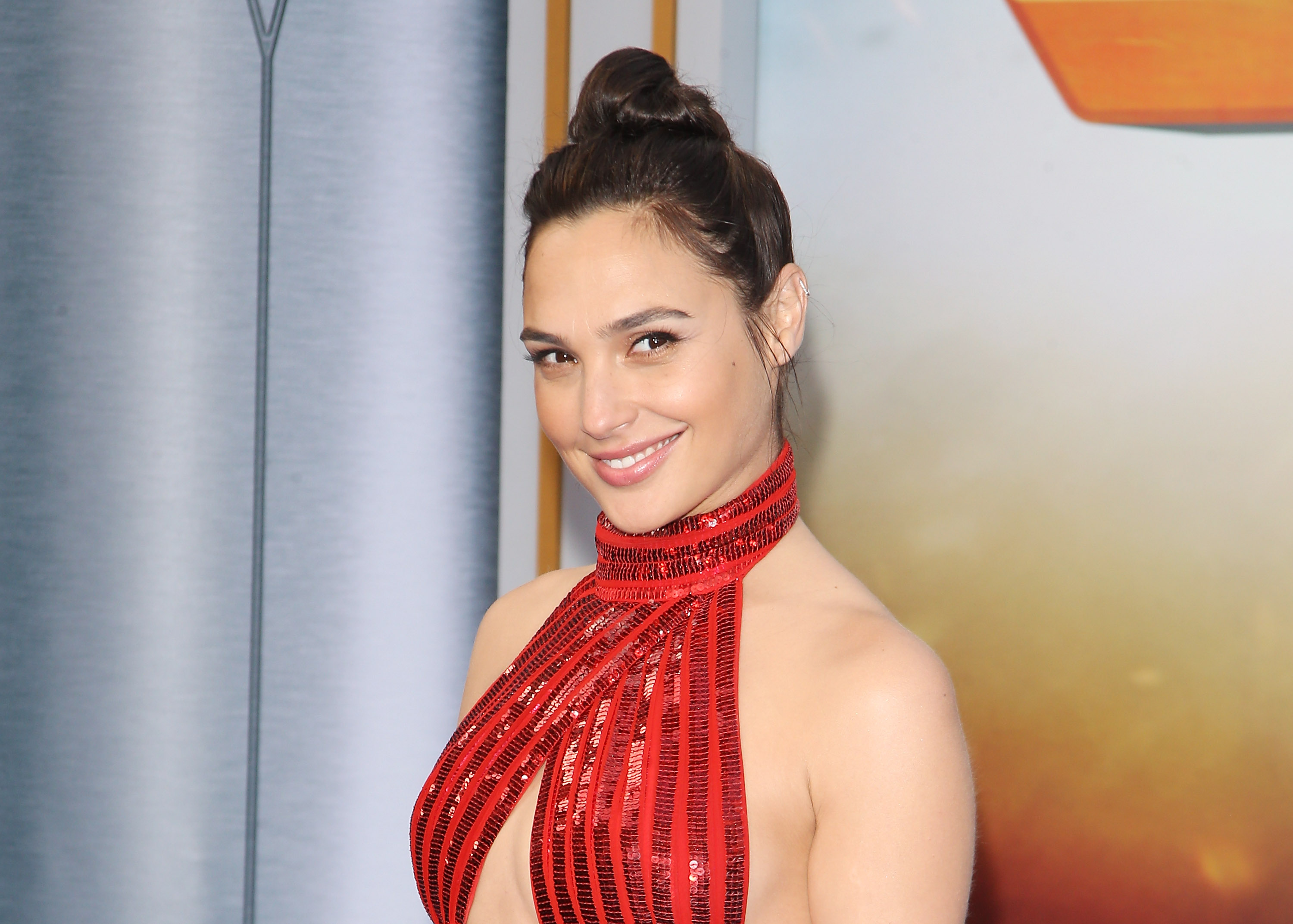 "Gal Gadot wore a pair of $50 flats underneath her ""Wonder Woman"" premiere gown"