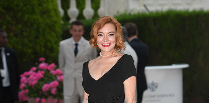 Lindsay Lohan wore a ballgown that looks exactly like one Grace Kelly wore in 1954