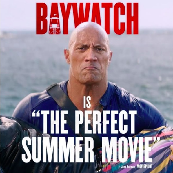 "Here's what Dwayne Johnson has to say about ""Baywatch's"" not so amazing reviews"