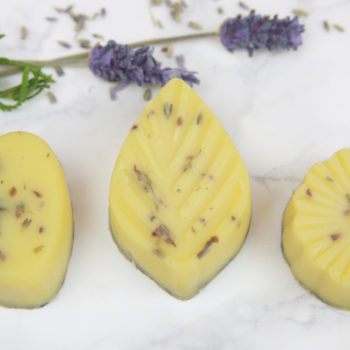 These lavender bath melts will calm your skin and your soul