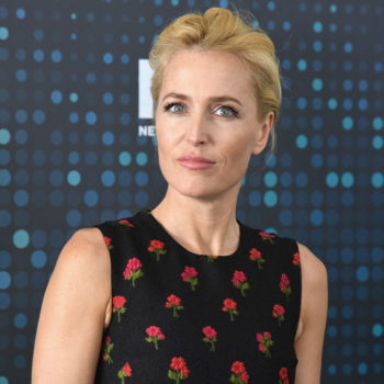 """Gillian Anderson is playing David Bowie in """"American Gods,"""" and the clip made our brains explode"""