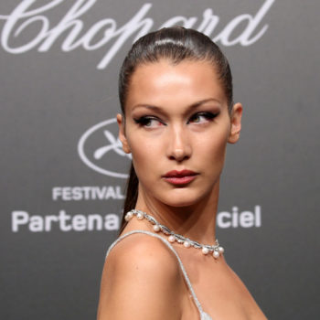 Bella Hadid rocked an all-crochet outfit, and we're intrigued