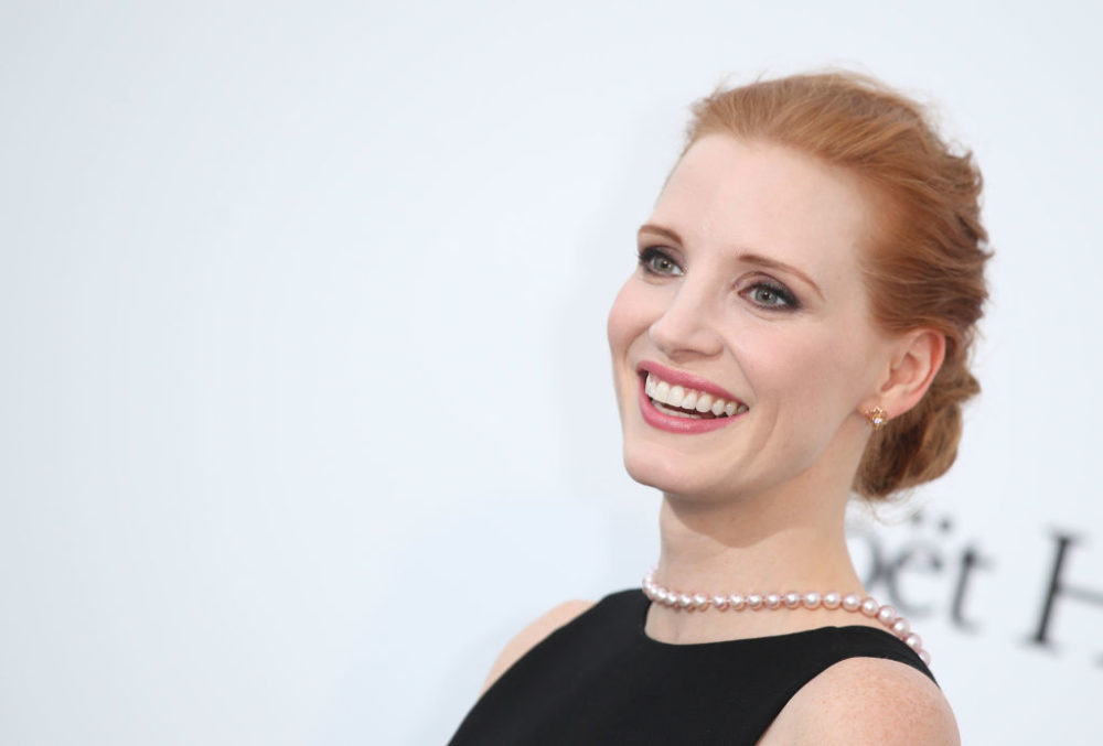Jessica Chastain channeled a '50s movie star in this intensely beaded gown