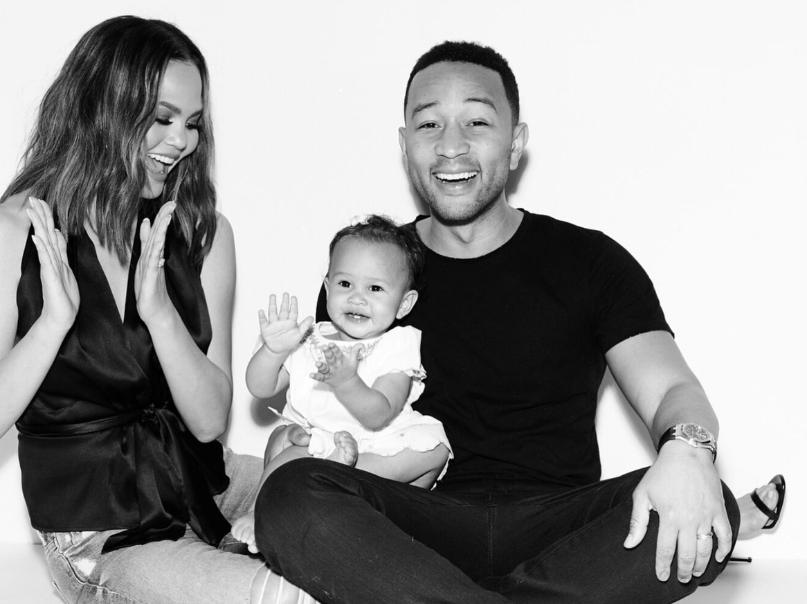 Luna is totally entranced by her dad, John Legend, at his concert, because who wouldn't be?