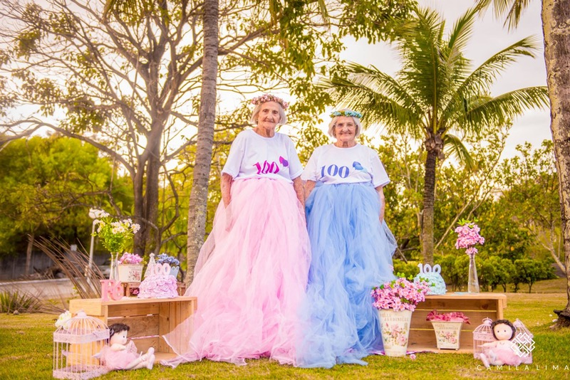 These twins celebrated their 100th birthday in tutus and flower crowns