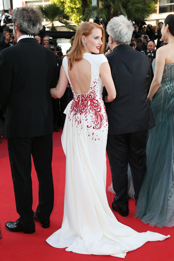 We Re Loving Jessica Chastain S Firework Of A Dress At The
