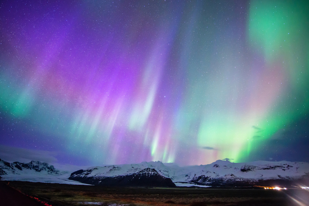 People caught rare glimpses of the Northern Lights, and the pictures are breathtaking