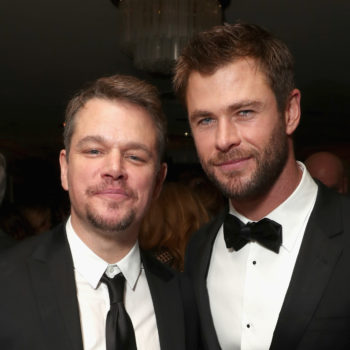Chris Hemsworth and Matt Damon shared pics from their joint family vacay, and the bromance is real