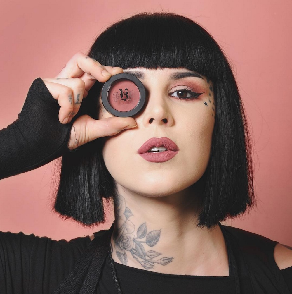 Friendly reminder: Kat Von D Beauty's Lolita cheek and eye duo launches tomorrow