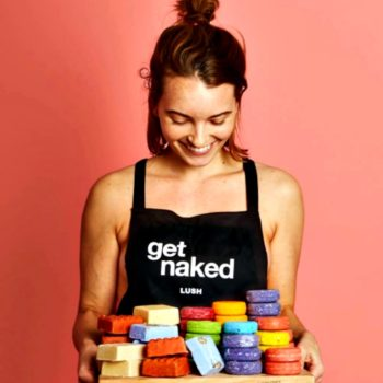 Lush employees are going nude for the environment today, so consider yourself warned