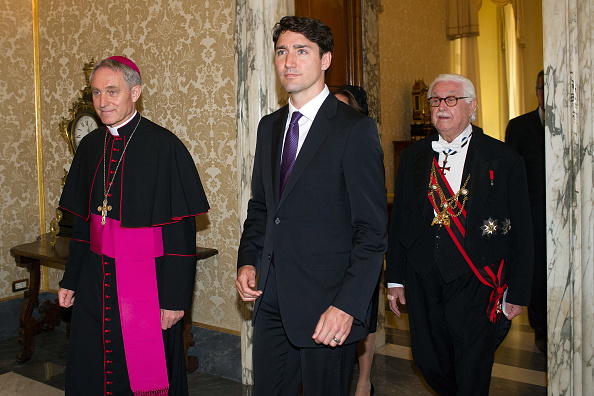 Justin Trudeau and his wife met the Pope and here's what happened