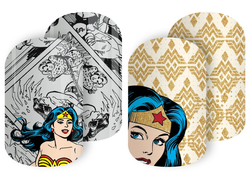 Channel your inner Wonder Woman with these nail wraps inspired by the iconic superhero