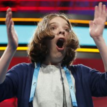 We want to be friends with this spelling bee contestant who types as she spells
