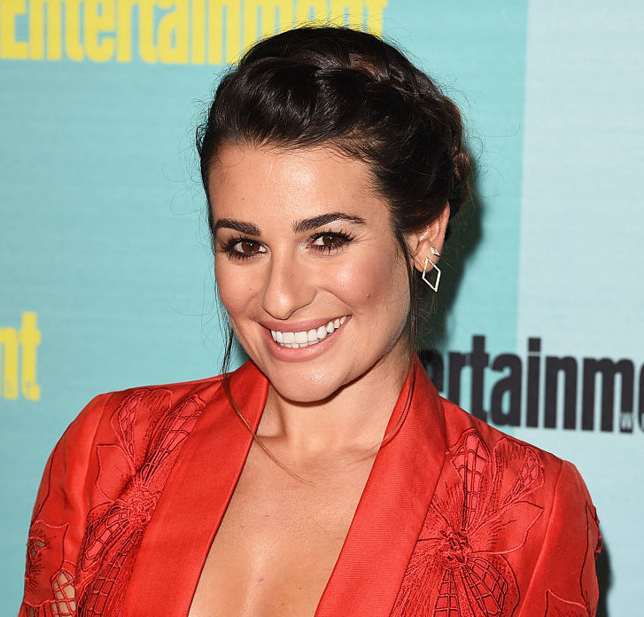 Lea Michele just mixed long sleeves with cut-outs, and we love this cute contrast